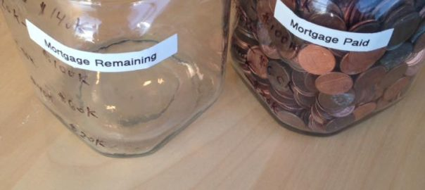 We're debt free - tracking progress paying down debt with mason jars